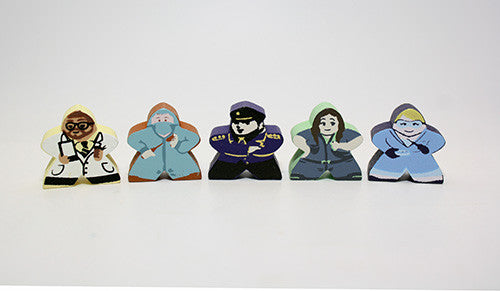 Character Meeple Set for Pandemic State of Emergency (5 pcs)