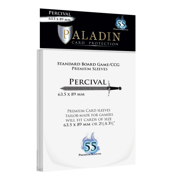 Paladin Card Protection: Percival (63.5 × 89 mm, Standard Card Game/CCG)