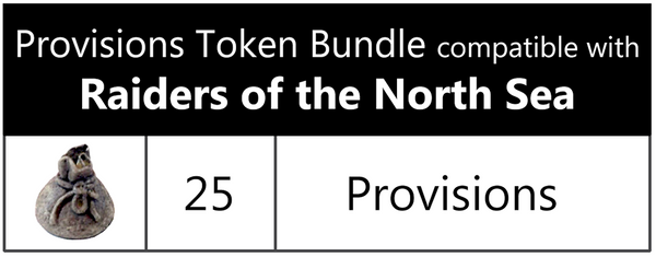 Provisions Token Bundle compatible with Raiders of the North Sea (set of 25)