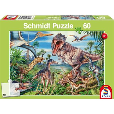 Puzzle - Schmidt Spiele - Amongst the Dinosaurs (60 Pieces)
