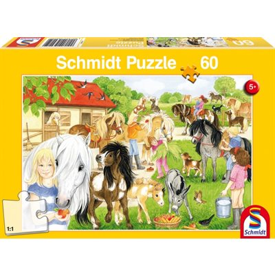 Puzzle - Schmidt Spiele - Fun at the Riding Stables (60 Pieces)