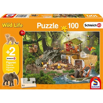 Puzzle - Schmidt Spiele - Croco Research Station (100 Pieces)