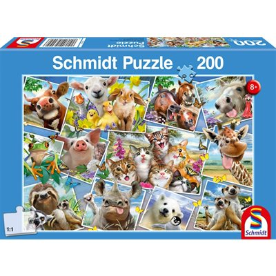 Puzzle - Schmidt Spiele - Animal Selfies (200 Pieces)
