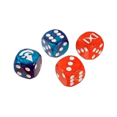 Ogre Dice Set - Red/Blue