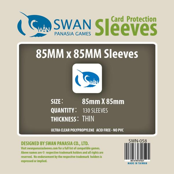 Swan - Card Sleeves (85 x 85 mm) - 130 Pack, Thin Sleeves