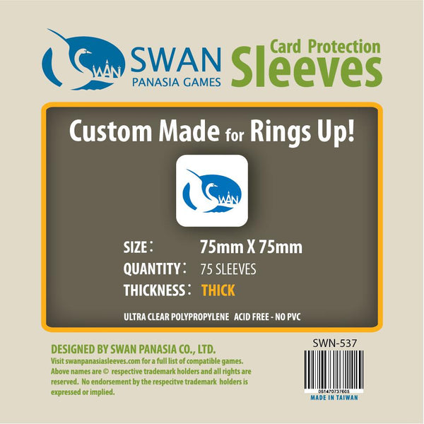 Swan - 75x75mm Card Sleeves Premium/Thick -75 Pack