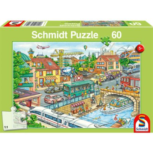 Puzzle - Schmidt Spiele - Vehicles and Traffic (60 Pieces)