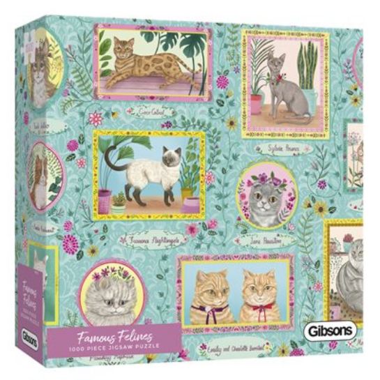 Puzzle - Gibsons - Famous Felines (1000 Pieces)