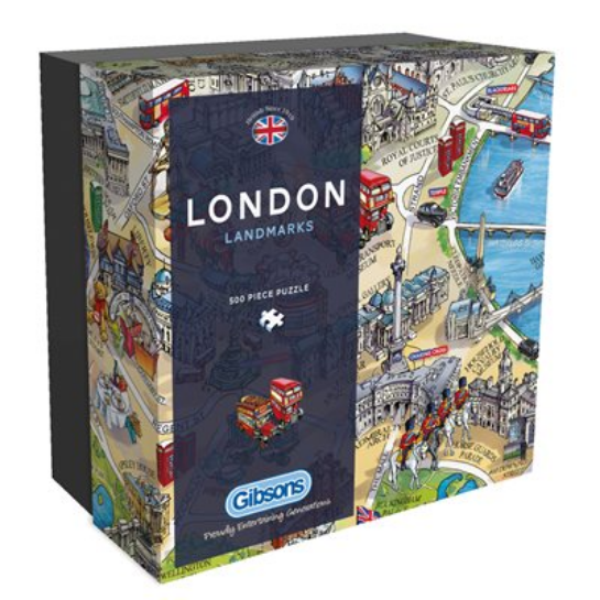 Puzzle - Gibsons - London Landmarks (500 Pieces)