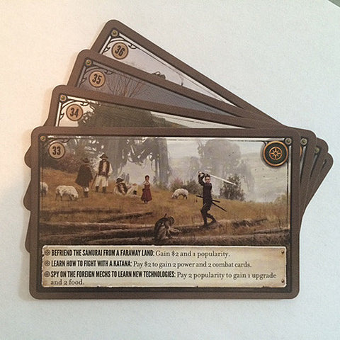 Scythe Kickstarter Promo Pack #2 - 4 Promo Encounter Cards (Stonemaier Games)