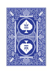 8-Bit Playing Cards Traditional Blue Deck