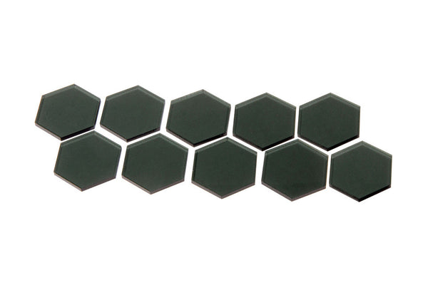 Broken Token - Transparent Gray 34mm Hex Tiles (10)