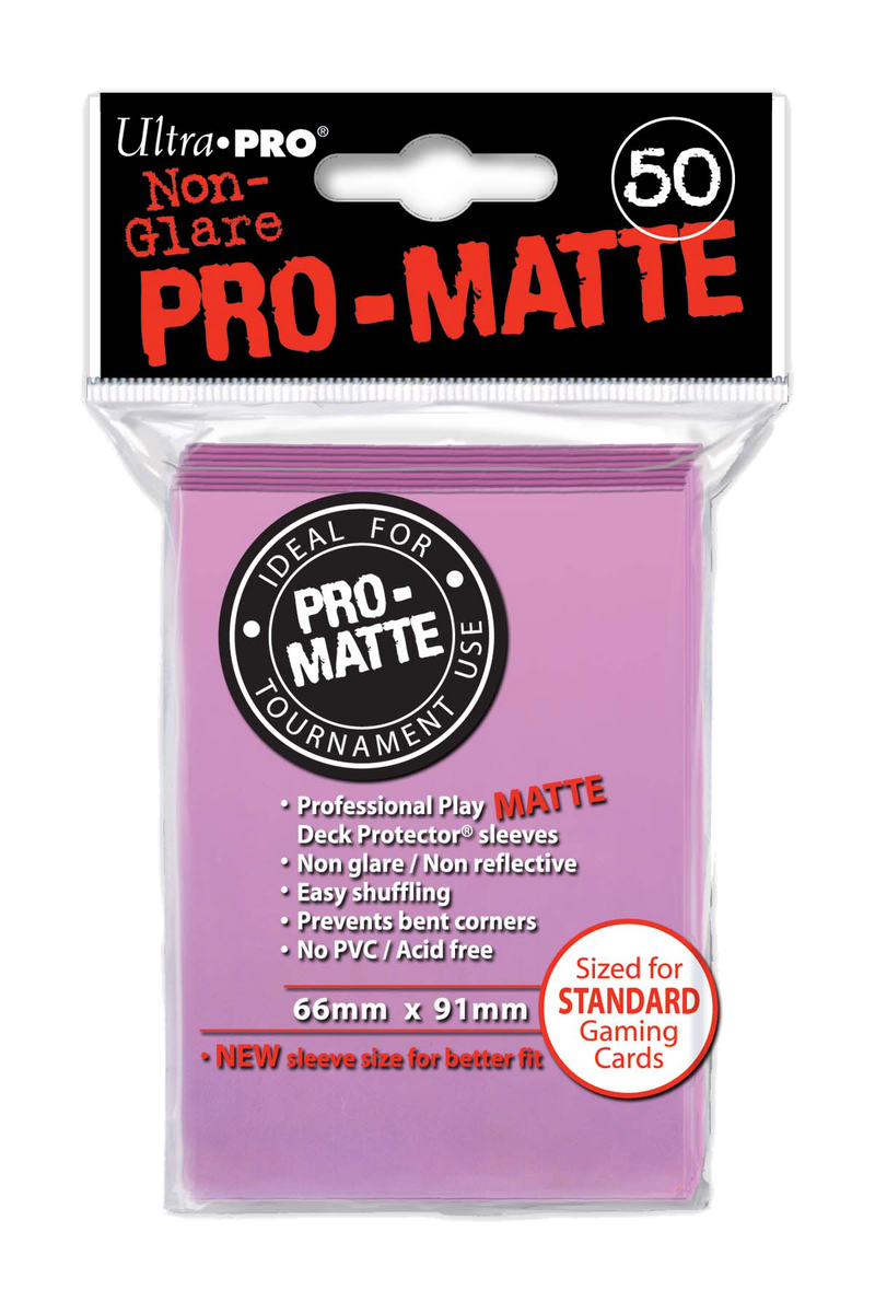 Ultra Pro Card Sleeves - Pro-Matte Pink (50)