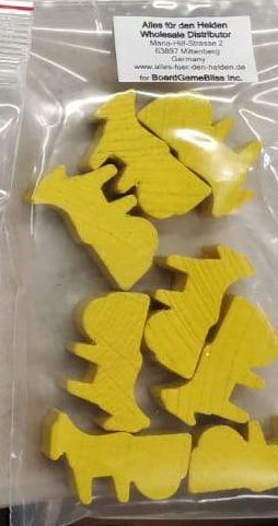 Tokens - Wooden Donkeys (Yellow)