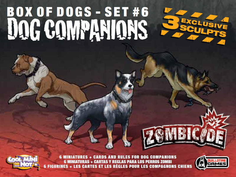 Zombicide Box of Dogs Set