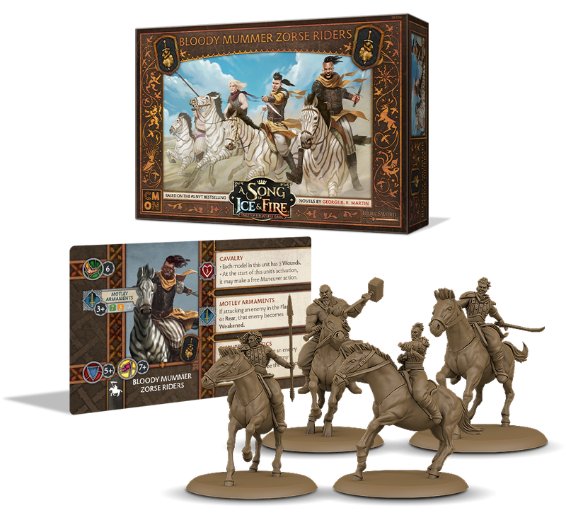 A Song of Ice & Fire: Tabletop Miniatures Game - Bloody Mummer Zorse Riders
