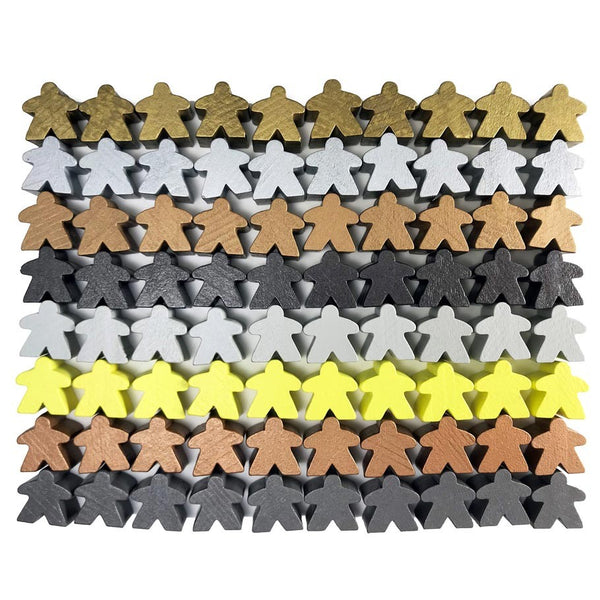 Apostrophe Games - Metallic Color Wooden Meeples (80)