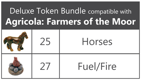 Deluxe Token Bundle compatible with Agricola: Farmers of the Moor