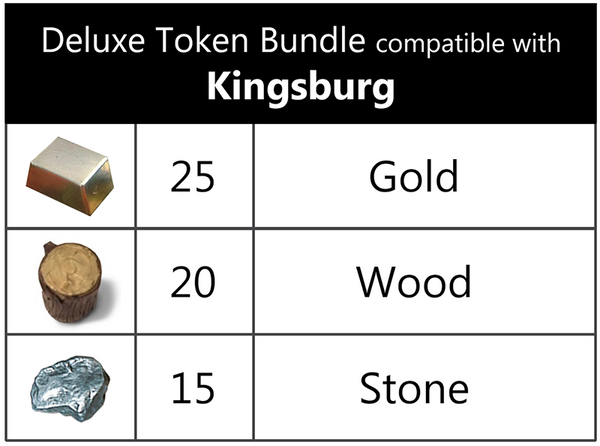 Deluxe Token Bundle compatible with Kingsburg (set of 60)