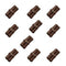 Brown Double Scroll Tokens (set of 10)