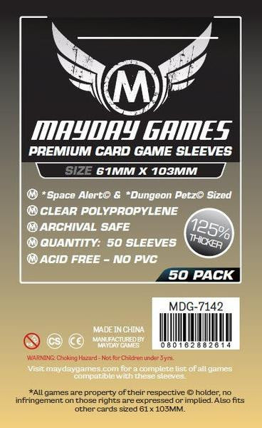 "Mayday - ""Space Alert"" & ""Dungeon Petz"" Card Sleeves (61x103mm)"
