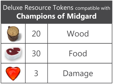 Deluxe Token Bundle compatible with Champions of Midgard