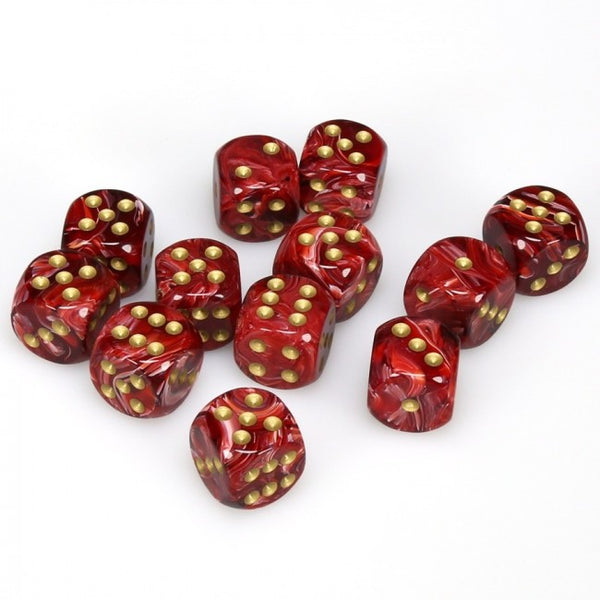 Chessex - Vortex: 12D6 Burgundy / Gold