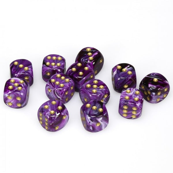 Chessex - Vortex: 12D6 Purple / Gold