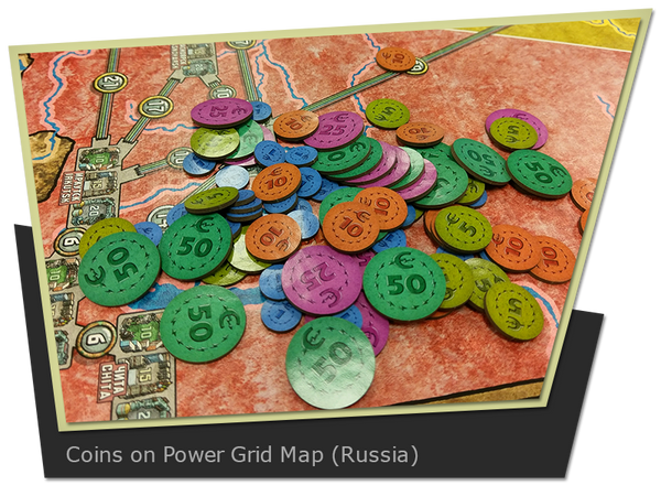 The Game Crafter - Coin Upgrade Kit for Power Grid