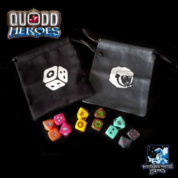 Quodd Heroes - Dice and Cloth Bags