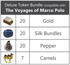 Deluxe Token Bundle compatible with The Voyages of Marco Polo