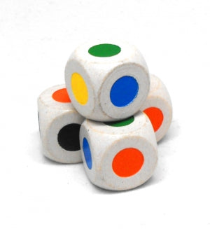 Koplow Games - D6 Wood Dice: 16mm with Colored Faces