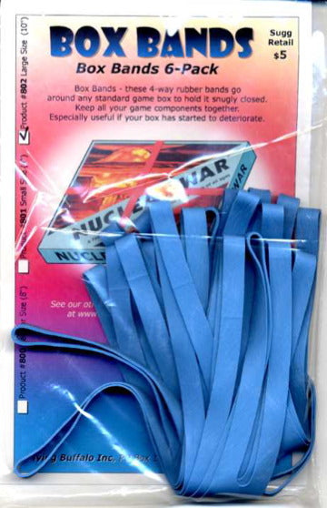 "Board Game Box Rubber Bands 10"" (Large Blue 6 pk)"