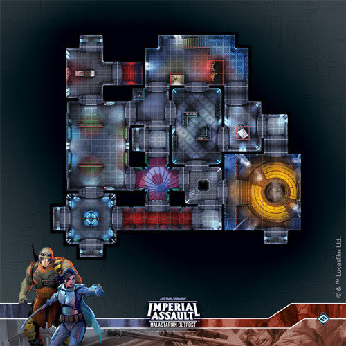 Star Wars Imperial Assault: Malastarian Outpost Raid Map