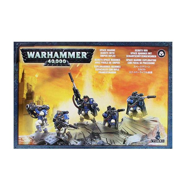 Games Workshop - Space Marine Scouts With Sniper Rifles