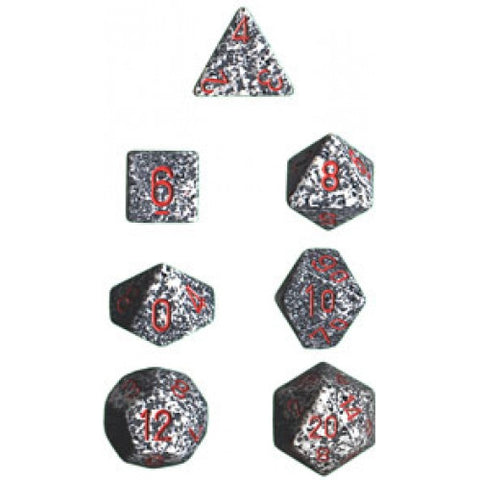 Chessex - 7 Piece - Speckled - Granite