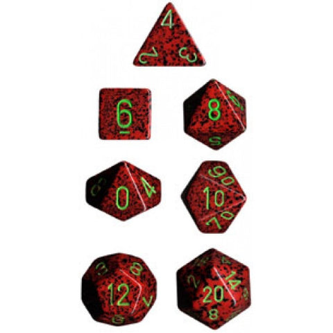 Chessex - 7 Piece - Speckled - Strawberry