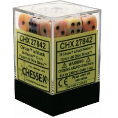 Chessex - 36D6 - Festive - Circus/Black