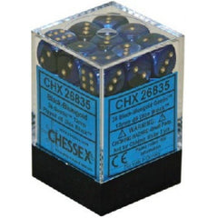 Chessex - 36D6 - Gemini - Black-Blue/Gold