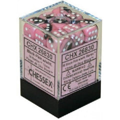 Chessex - 36D6 - Gemini - Black-Pink/White