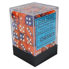 Chessex - 36D6 - Gemini - Blue-Orange/White
