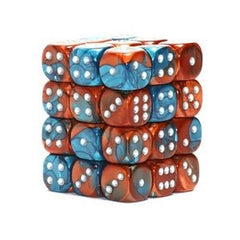 Chessex - 36D6 - Gemini - Copper-Teal/Silver