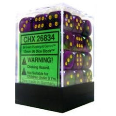 Chessex - 36D6 - Gemini - Green-Purple/Gold