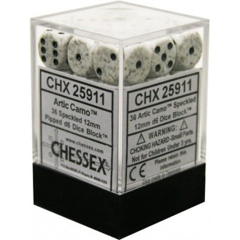 Chessex - 36D6 - Speckled - Arctic Camo