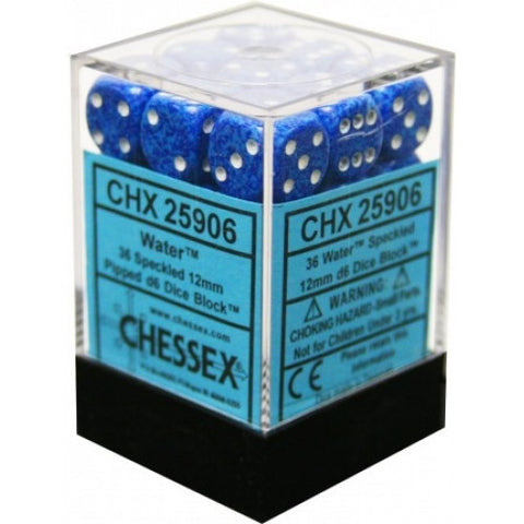 Chessex - 36D6 - Speckled - Water