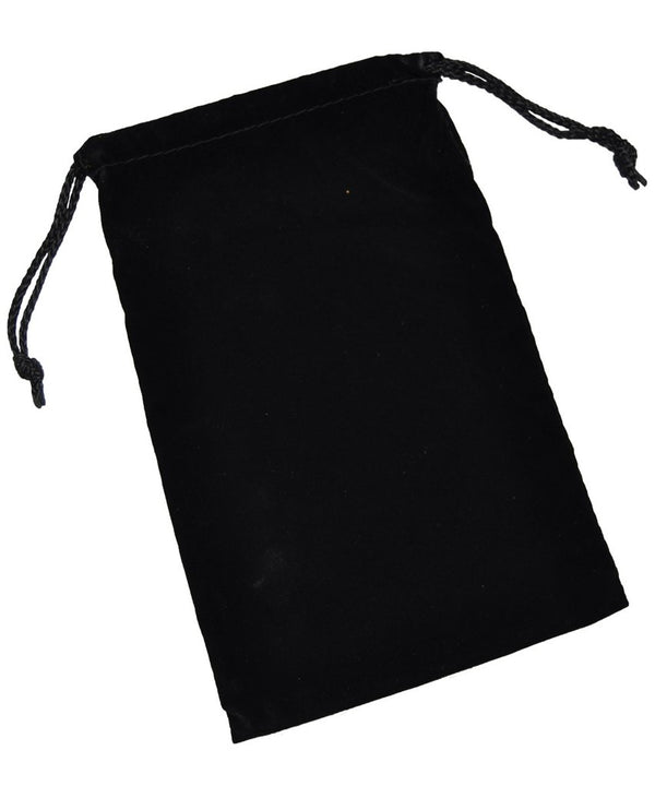 Cloth Dice Bag - 6'' x 9'' (Black)