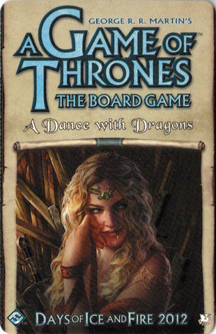 A Game of Thrones: The Board Game (Second Edition) – A Dance with Dragons Expansion