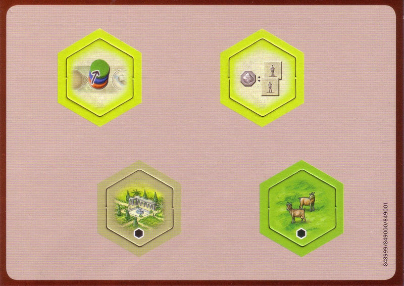 The Castles of Burgundy: 2nd Expansion - New Hex Tiles