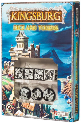 Kingsburg: Dice and Tokens (Black)