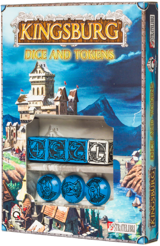 Kingsburg: Dice and Tokens (Blue)